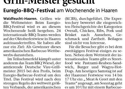 Aachener Zeitung (15.08.2015)